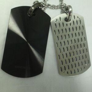 Diesel Mens Necklace Stainless Steel NIB